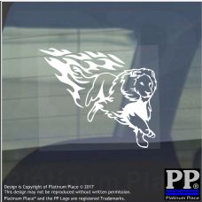 Lion Flame-Vinyl Sticker-Car Window Graphic Decal Sign Animal,Winged,Golden,Roar